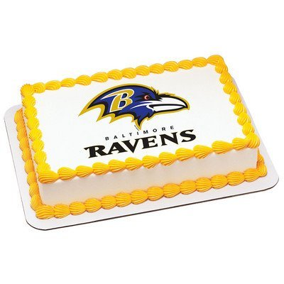 Wondrous Home Garden Baltimore Ravens Edible Cake Topper Frosting 1 4 Birthday Cards Printable Opercafe Filternl