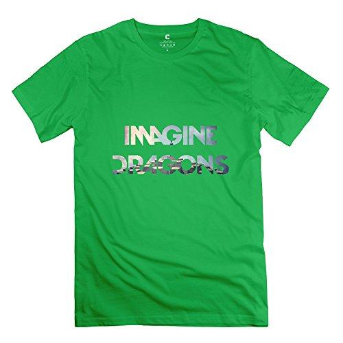 Jiuzhou Men's Tshirt Imagine Dragons S ForestGreen (One Otterbox M8 Htc)