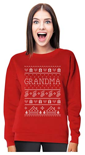 Ugly Family Christmas Photos (TeeStars - Grandma Ugly Christmas Sweater Funny Xmas Gift Women Sweatshirt Large)
