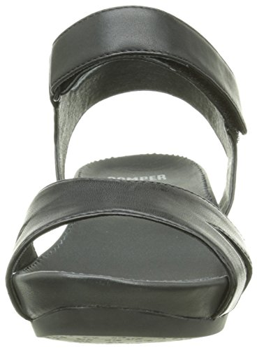 Camper Micro - Sandalias con cuña Mujer Negro (Black 005)