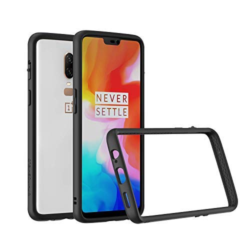 premium selection e0b04 506bc RhinoShield Bumper Case for OnePlus 6 [Crashguard] | Shock Absorbent Slim  Design Protective Cover [3.5M/11ft Drop Protection] - Black