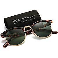 aevogue polarizadas anteojos de sol parcialmente sin montura Marco marca Designer Classic ae0369