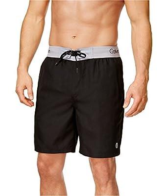 Calvin Klein Men's Logo Waist Band Swim Trunk 9''