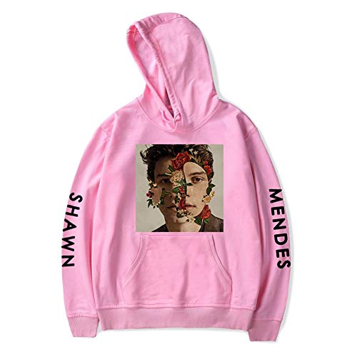 Cotone Per Uomini Pullover Cappuccio Unisex Le Donne Fan Pink Incappucciato Zwzh Tasca Shawn Ragazze Primavera Casual Felpe Mendes Con RqETw876