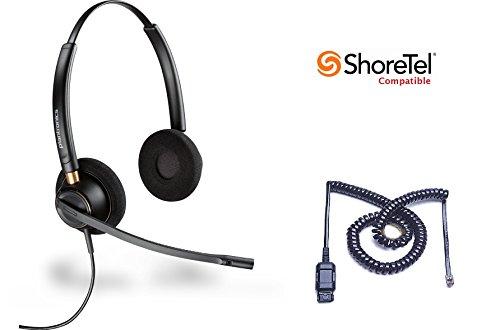- ShoreTel Compatible Plantronics HW520 EncorePro 520 Ultra Noise-Canceling VoIP Headset Bundle for ShoreTel IP Phones: 100, 212, 230, 230G, 265, 530, 560, 560G, 565, 565G, 655