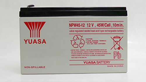 Price comparison product image Genuine YUASA NPW45-12 12V 45W/Cell 9Ah F2 Connectors UPS Rechargeable Uninterrupted Power Supply (UPS) Battery