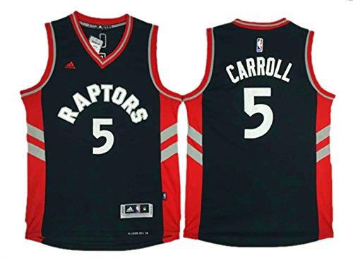 Raptors 5 DeMarre Carroll Black Swingman Jersey Size-M