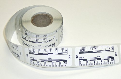 (Ruler – Adhesive Backed Decal on a Roll – Fractional/Metric – 2 Inch (5 Centimeter) Long – Left to Right – 200 per Roll – White)