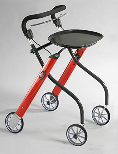 Andador/andador para interior con 4 ruedas - plegable - rojo ...