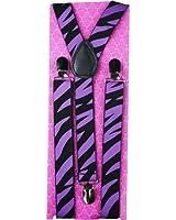 Outer Rebel Fashion Suspenders- Purple Zebra