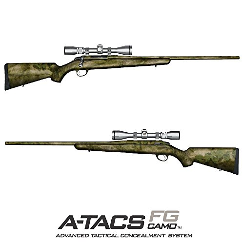 GunSkins Hunting Rifle Skin Camouflage Kit DIY Vinyl Wrap with precut Pieces (A-TACS FG from A-TACS Camo)