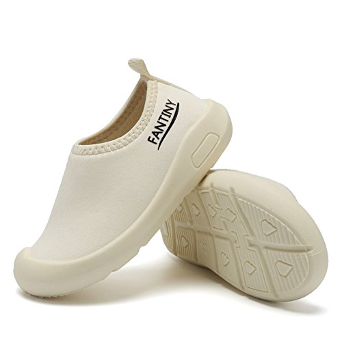 CIOR Kids Slip-on Casual Mesh Sneakers Aqua Water Breathable Shoes For Running Pool Beach (Toddler/Little Kid) SC1600 White 20 5
