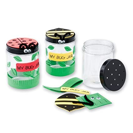 amazon com plastic bug jar craft kits 12 per pack toys games