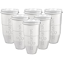 ZeroWater Replacement Filter for Pitchers, 6-Pack - ZR-600