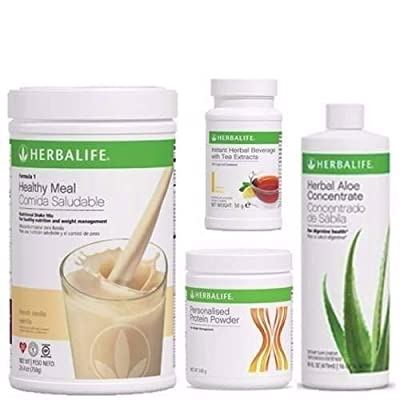 HERBALIFE Aloe Tea Shake Protein QUICK COMBO(Message us with your desired flvour at the time of ordering the product).