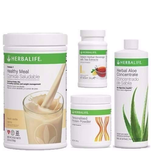 HERBALIFE Aloe Tea Shake Protein QUICK COMBO(Message us with your desired flvour at the time of ordering the product). For Sale