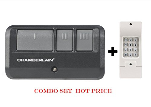 Common Garage Door Opener Remote Control Replacement Kit, Black and Blue