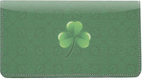 Irish Grunge Leather Checkbook Cover