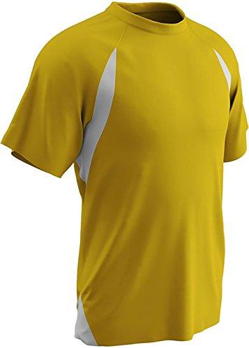 Champro Herren Dri-Gear Full Cut T-Shirt, Jersey, Größe M, Gold Weiß B004UVGWFC Spieltrikots Bevorzugtes Material