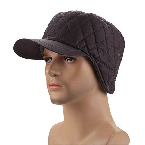 (Runtlly Winter Warm Skull Cap Outdoor Windproof Fleece Winter Earflap Hat Yukon Cap Water Repellent Base Cap Gray)