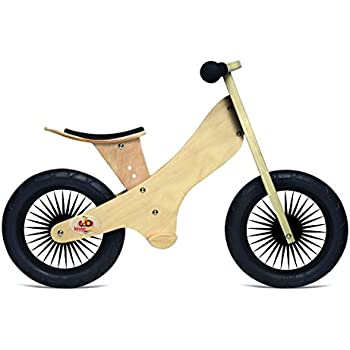 Kinderfeets Retro Wooden Balance Bike, Natural