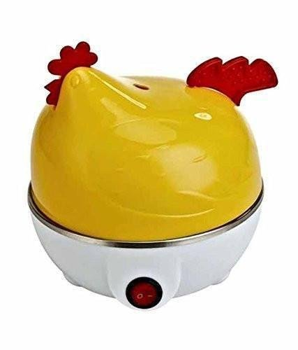 IN-INDIA Stylish Hen Shaped Egg Boiler Cum Steamer - Can be used For Vegetables (EU PLUG)