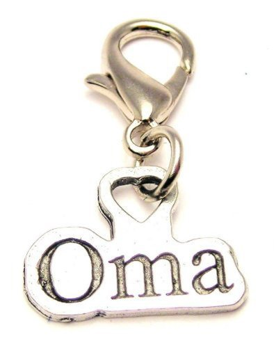 Oma ChubbyChicoCharms Pewter Charm Zipper Pull