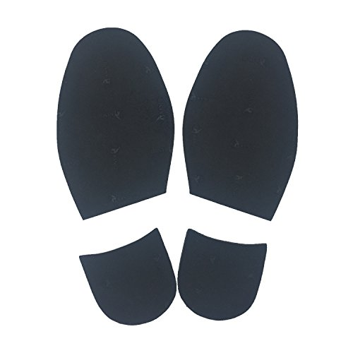 Shoe Repair Accessories - Shoe Repair Replacement Rubber Heels And Half Sole, different colors (Black)