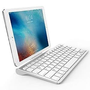 OMOTON Ultra-Slim Bluetooth Keyboard with Sliding Stand,Compatible with  2018 iPad Pro 11/12 9, New iPad 9 7 Inch, iPad Air, iPad Mini, iPhone and
