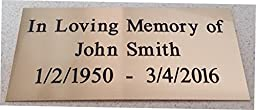 Customized Engraved Brass Plaque Plate - Solid Brass or Black Brass