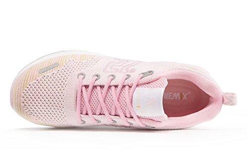 Durchgängies Erwachsene Plateau Pink onemix Rose mit Unisex Sandalen Keilabsatz fxwCUEq