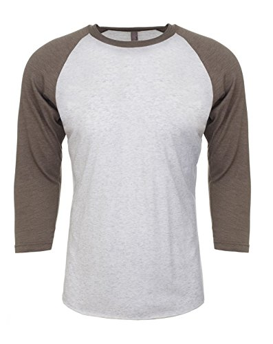 Next Level NL6051 Unisex 3/4 Sleeve Raglan - Venetian Gray/Heather White - 3X