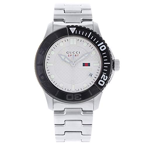 Gucci G-Sport 126 XL YA126250 Stainless Steel Beige Dial Quartz Men's Watch