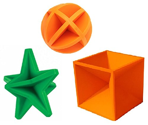 Multi Pack Reactive Ground Bouncing Shooting Targets Round , Star & Square Hot Box
