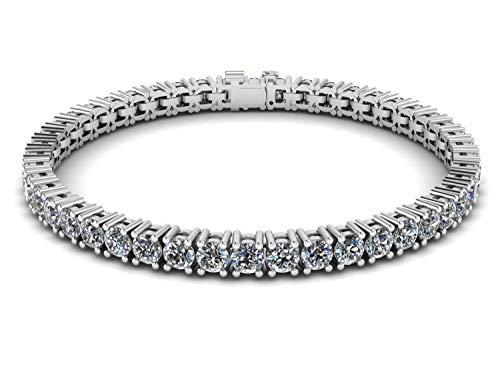 - NANA Silver Swarovski CZ Tennis Bracelet- 7