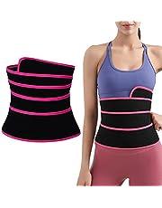 HHHJ Midja tränare bälte tjockare wrap tränare tejp kvinnor bantning mage wrap bälte justerbar midja trimmer shaper bälte för dam bantning kroppsformare träning gördel magband 2,5 m