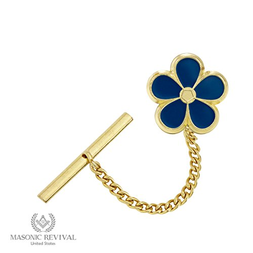 Forget Met Not Tie Pin Tack by Masonic Revival (Golden) by Masonic Revival (Image #1)