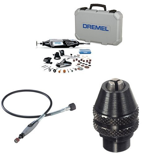 Dremel 4000-4/34 Rotary Tool with Flex Shaft Attachment and MultiPro Keyless Chuck