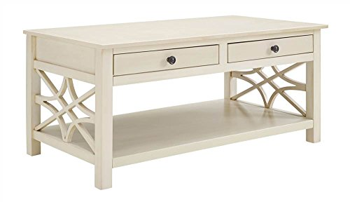 Linon Whitley Coffee Table in Antique White