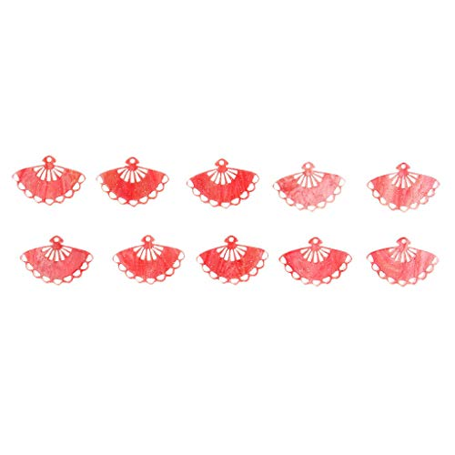 10Pcs Sector Acrylic Pendant DIY Earring Beads Craft Jewelry Accessories Set Necklace Jewelry Crafting Key Chain Bracelet Pendants Accessories Best| Color - - Antique Pendant Acrylic