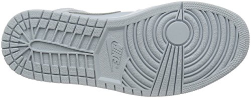 Air Nike metallic Platinum Hombre Deporte Mid Plateado Jordan White 1 De Para Silver pure Zapatillas pdwdrq