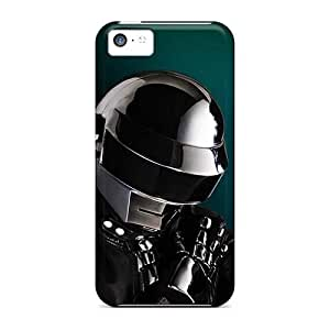 Shock Absorbent Hard Phone Cases For Iphone 5c (ETb17039JftZ) Unique Design Lifelike Daft Punk Band Pattern