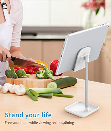 Cell Phone Stand for Desk,Height Angle Adjustable Phone Stand,Deep Dream Case Friendly Desktop Sturdy Aluminum Metal… |