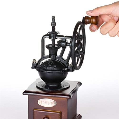 Fecihor Manual Coffee Grinder With Grind Settings and Catch Drawer - Classic Vintage Style Manual Hand Grinder Coffee Mill by Fecihor (Image #1)