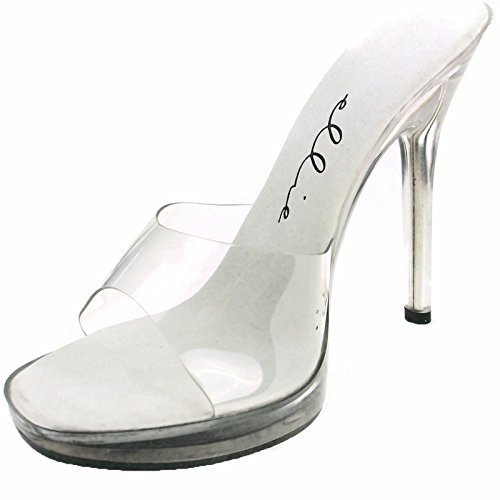 Ellie Shoes Women's 5 Inch Heel Clear Mule