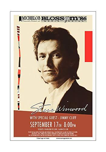 Raw Sugar Art Studio Steve Winwood/Jimmy Cliff 1986 Akron Concert Poster