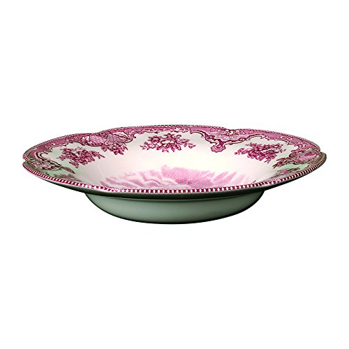 Pink Floral Soup Bowl - Johnson Brothers Old Britain Castles 8-1/2-Inch Rim Soup Bowl, Pink