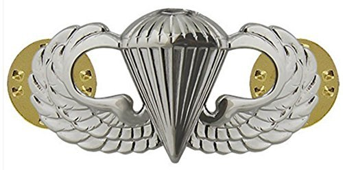 Badges And Collar Devices Army Basic Parachutist Badge Mirrored Finish - Regulation