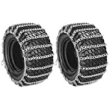 New PAIR 2 Link TIRE CHAINS 26x12-12 for John Deere Lawn Mower Tractor Rider ,,#id(theropshop; TRYK80271680536532