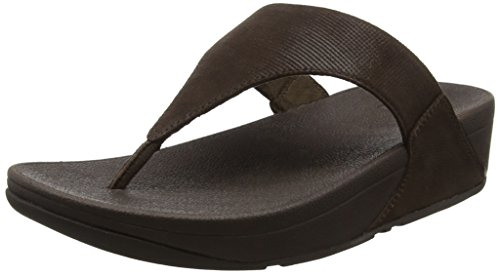 Mujer thong Sandalias chocolate Sandals Para Marrón Lulu 30 check shimmer Toe Fitflop 6WwBq17R